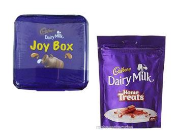 Cadbury Dairy Milk Combo; Cadbury Dairy Milk, Joy Box(5 count 25gm) and Cadbury Dairy Milk Chocolate Home Pack, 140g (20 Count)