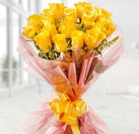 Yellow Roses Bunch; 10 Yellow Roses Bunch