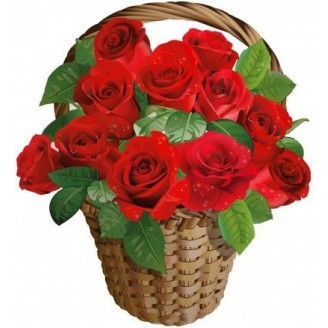 LITTLE ROSE BASKET; Bring a smile on your dear ones face by presenting them this Little Rose Basket. To let them know you care for them, miss them and wish them love and prosperity while being miles away from them. This basket contains: 10 red roses in beautiful basket