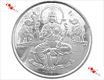 5 Gms Silver Coin: Gift this Silver Coin(Goddess Lakshmi) of approx. 5 Gms on this auspicious day of Diwali.