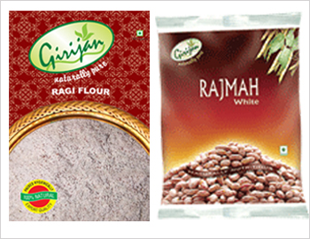 Girijan Natural Health Care Pack; This pack consists of pure and natural Ragi Powder (500gms x2) and White Rajmah  (500gms x2). Ragi powder and rajmah are rich in calcium and fiber. They help to lower cholesterol level and for weight loss. Also hepls to fight Cancer and Diabetes