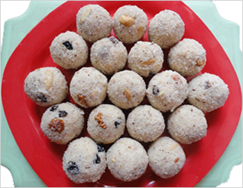 Ravvaladdu; Ravvaladdu is a traditional Indian sweet. This is a popular ladoo served almost in every household for all the festivals.