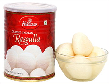 Rosagulla; This Popular Bengal sweet , ROSAGULLA, an all time favourite of many,  is now available in Tins,also .