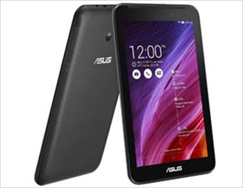 ASUS Fonepad 7 FE170CG; 7, 1024x600 (WSVGA) Display,Intel Atom Z2520, 1.2GHz, with Intel Hyper-Threading Technology1GB RAM, Storage8GB, Camera 2MP  0.3MP, Android 4.3 Jelly Bean, Upgradable to 5.0 Lollipop,3950 mAh Battery, 3G Voice Call, Dual Micro SIM, Warranty 1yr India