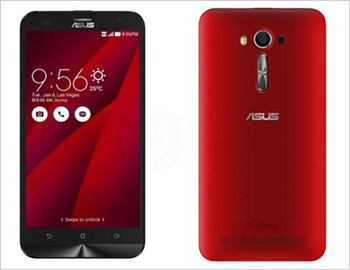 ASUS Zenfone 2 Laser (ZE500KL) - Red: Android Lollipop 5.0, Qualcomm MSM8916 QuadCore 1.2GHz, 16GB eMMC Flash 5GB free lifetime ASUS WebStorage, 5-inch, HD 1280x720,TFT Corning Gorilla Glass 4, Front 5 Mega-Pixel, w/ flash, PixelMaster Rear 8 Mega-Pixel, w/ flash, w/ LED Flash,